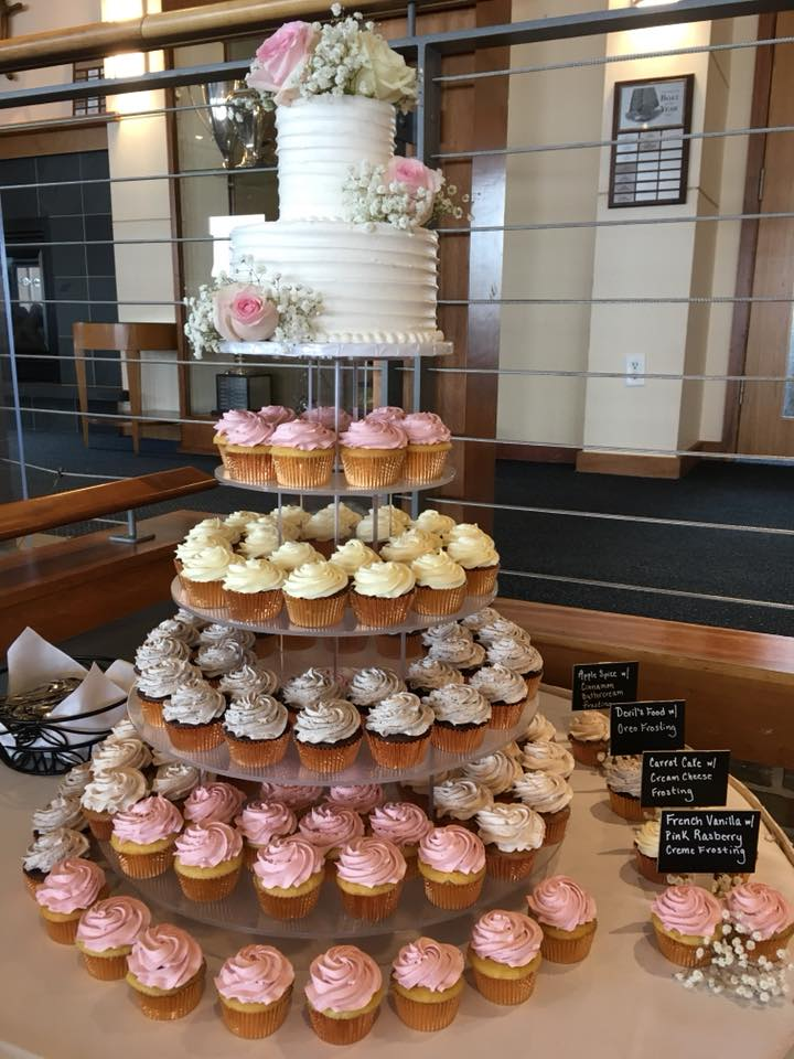 Cake And Bake Wedding Cupcakes
